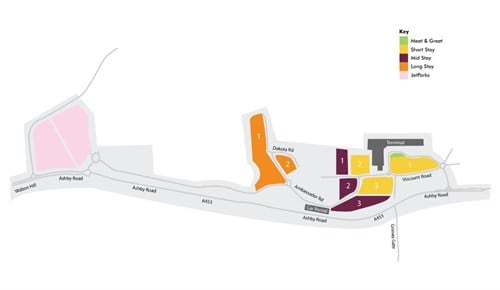 East Midlands Airport Parking Map Flight Arrivals | East Midlands Airport